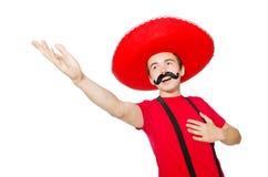 Grappige Mexicaan isoleerde Stock Foto