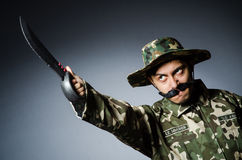 Grappige militair Royalty-vrije Stock Foto's