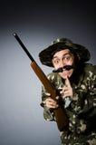 Grappige militair Royalty-vrije Stock Afbeeldingen