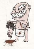 Grappige moordenaar stock illustratie