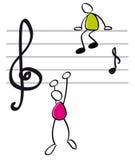 Grappige musicants Royalty-vrije Stock Afbeeldingen