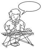 Grappige musicus of xylofoonspeler royalty-vrije illustratie