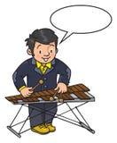 Grappige musicus of xylofoonspeler stock illustratie
