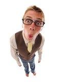 Grappige nerd stock fotografie