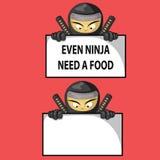 Grappige ninja stock fotografie