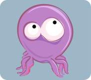 Grappige octopus Royalty-vrije Stock Afbeeldingen