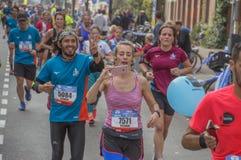Grappige Ogenblikken bij de Marathon van het Nederland 2018 van Amsterdam stock fotografie