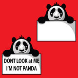 Grappige Panda Royalty-vrije Stock Afbeelding