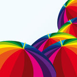 Grappige paraplu's vector illustratie