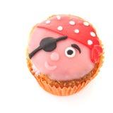 Grappige piraat cupcake Royalty-vrije Stock Afbeelding