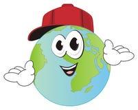 Grappige planeet in GLB stock illustratie