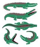 Grappige Reeks Krokodilpictogrammen stock illustratie