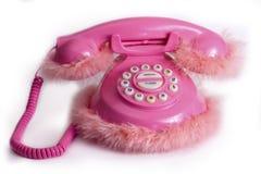 Grappige roze telefoon Stock Foto