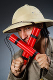Grappige safarijager Royalty-vrije Stock Afbeeldingen