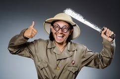 Grappige safarijager Royalty-vrije Stock Foto