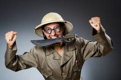 Grappige safarijager Royalty-vrije Stock Foto's
