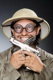 Grappige safarijager Stock Foto's