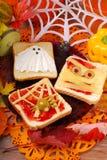 Grappige sandwiches voor Halloween Royalty-vrije Stock Afbeelding