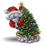 Grappige Santa Christmas Tree vector illustratie