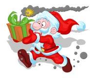 Grappige Santa Claus Concept - Kerstmis Vectorillustratie Stock Fotografie