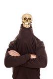 Grappige schedel op het hoofd van een manRoyalty-vrije Stock Fotografie