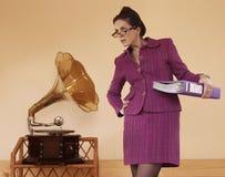 Grappige secretaresse Royalty-vrije Stock Afbeelding