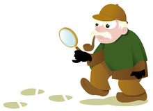 Grappige Sherlock Holmes Royalty-vrije Stock Afbeelding
