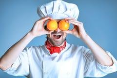 Grappige sinaasappelen Royalty-vrije Stock Afbeelding