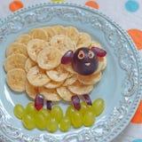 Grappige snack voor jonge geitjes Royalty-vrije Stock Foto