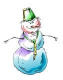 Grappige sneeuwman Stock Foto