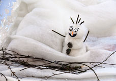 Grappige sneeuwman Stock Afbeelding
