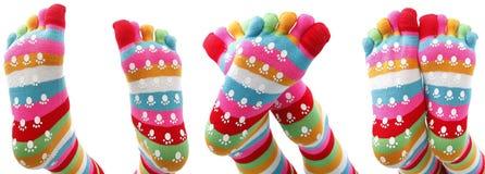 Grappige sokken Royalty-vrije Stock Fotografie