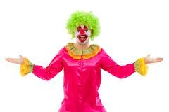 Grappige speelse clown Stock Foto