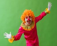 Grappige speelse clown Royalty-vrije Stock Foto