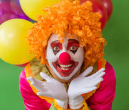 Grappige speelse clown Stock Afbeelding