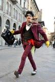 Grappige straatkunstenaar in Italië Royalty-vrije Stock Fotografie