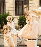 Grappige straatkunstenaars Royalty-vrije Stock Foto's