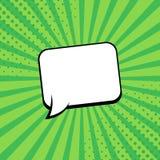 Grappige stralen met toespraakbellen Grappige superherobel Strippaginapagina-indeling Halftone stralen, radiaal, Vector illustrat stock illustratie