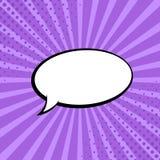Grappige stralen met toespraakbellen Grappige superherobel Strippaginapagina-indeling Halftone stralen, radiaal, Vector illustrat vector illustratie