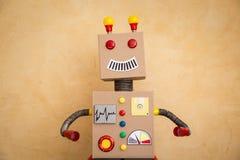 Grappige stuk speelgoed robot Stock Afbeelding