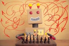 Grappige stuk speelgoed robot stock illustratie
