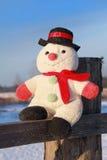 Grappige stuk speelgoed sneeuwman Royalty-vrije Stock Foto's