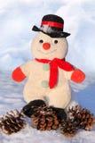Grappige stuk speelgoed sneeuwman Royalty-vrije Stock Afbeelding