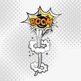 Grappige Tekst, Pop-artstijl boom stock illustratie