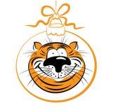 Grappige tijger stock illustratie