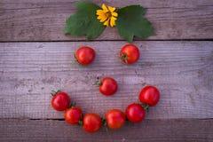Grappige tomaten Stock Foto's