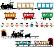 Grappige treinreeks Royalty-vrije Stock Foto