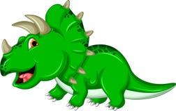 Grappige Triceratops-dinosaurus Royalty-vrije Stock Afbeeldingen