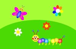 Grappige tuin vector illustratie