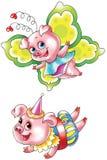 Grappige varkens stock illustratie